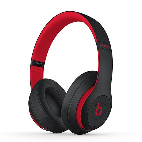 Apple Beats Studio3 Wireless Over-Ear Headphones - Defiant Black-Red