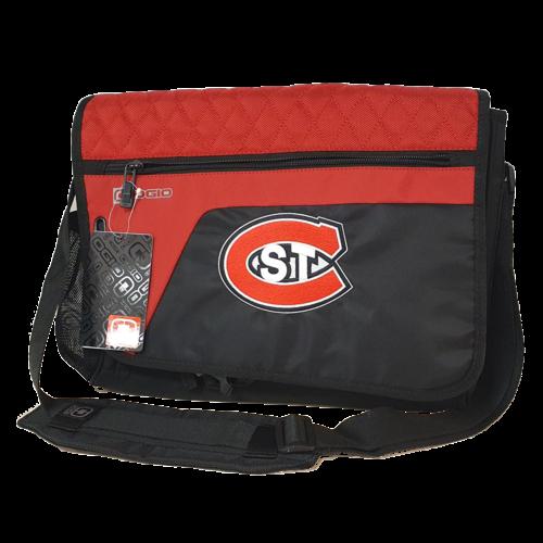 """OGIO Laptop 14"""" bag Black/Red STC logo"""