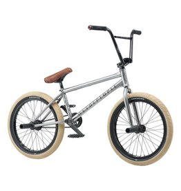 "We The People We The People Battleship 20"" 2019 Complete BMX Bike 20.75"" Top Tube Freecoaster Left Side Drive Brushed Raw"