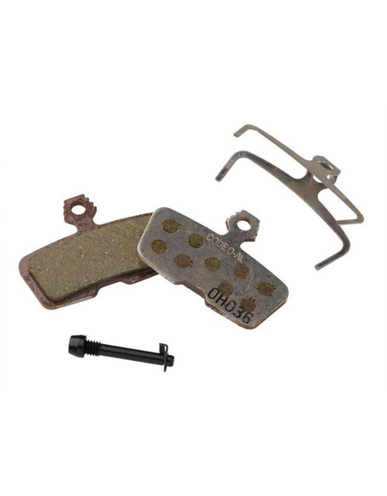 SRAM SRAM/Avid Code, Code RSC, Code R, Guide RE Organic Disc Brake Pad, Aluminum Back, Pair