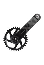 "SRAM SRAM XX1 Eagle Carbon Fat Bike 4"" DUB Crankset 175mm Direct Mount 30t X- Sync 2 Chainring Black, Bottom Bracket Not Included"