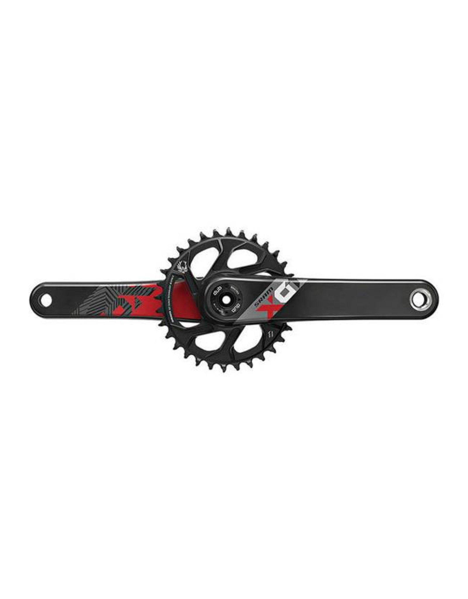 SRAM SRAM X01 Eagle Carbon Boost 148 DUB Crankset 175mm Direct Mount 32t X- Sync 2 Chainring Red, Bottom Bracket Not Included