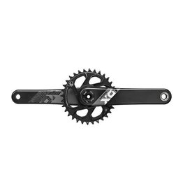 SRAM SRAM X01 Eagle Carbon DUB Crankset 170mm Direct Mount 32t X-Sync 2 Chainring Black, Bottom Bracket Not Included