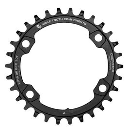 Wolf Tooth Components Wolf Tooth Components Drop-Stop 30T Chainring: For Shimano XT 8000 Cranksets with a 96 Asymmetrical BCD, Black