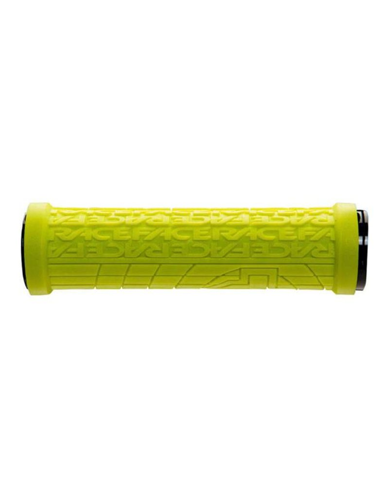Yellow RaceFace Grippler 30mm Lock-On Grip