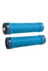 ODI ODI VANS Lock-On Grips Light Blue with Blue Classic Checker Etched Clamps