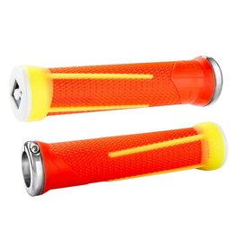 ODI ODI AG1 Lock-On Grips Aaron Gwin 135mm Flourescent Yellow/Flourescent Orange