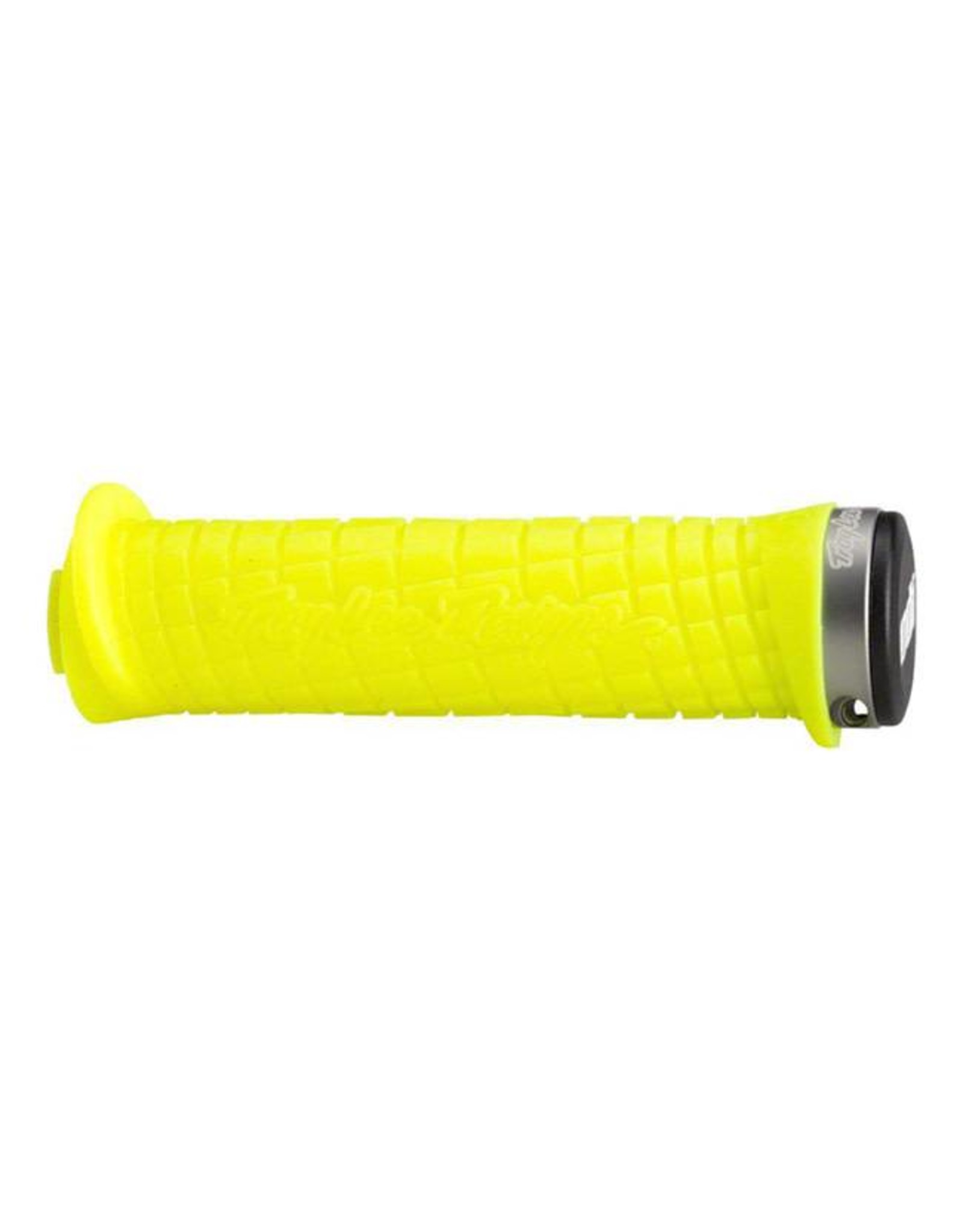 ODI ODI Troy Lee Lock-On Grips Bright Yellow with Gray Clamps