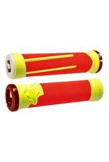 ODI ODI AG2 Lock-On Grips Orange/Yellow with Orange Clamps