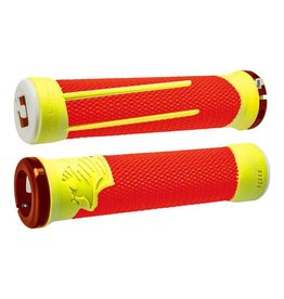 ODI ODI AG2 Lock-On Grips Orange/Yellow with Orange Clamps