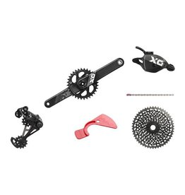 SRAM SRAM X01 Eagle DUB Groupset: 175mm Boost 32 Tooth Crank, Rear Derailleur, 10-50 12 Speed Cassette, Trigger Shifter, Chain, Black