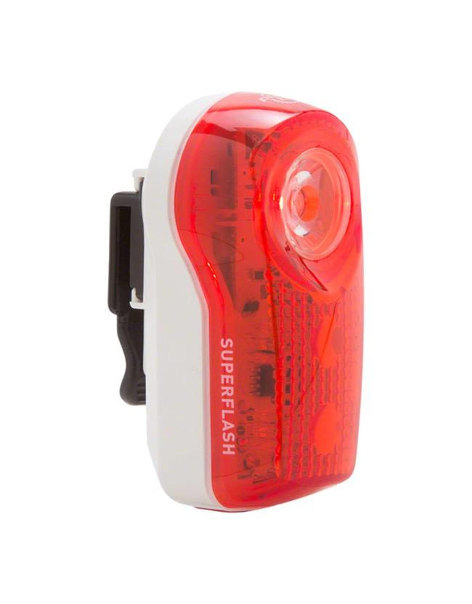 Planet Bike Planet Bike LED Superflash Taillight: Red/White