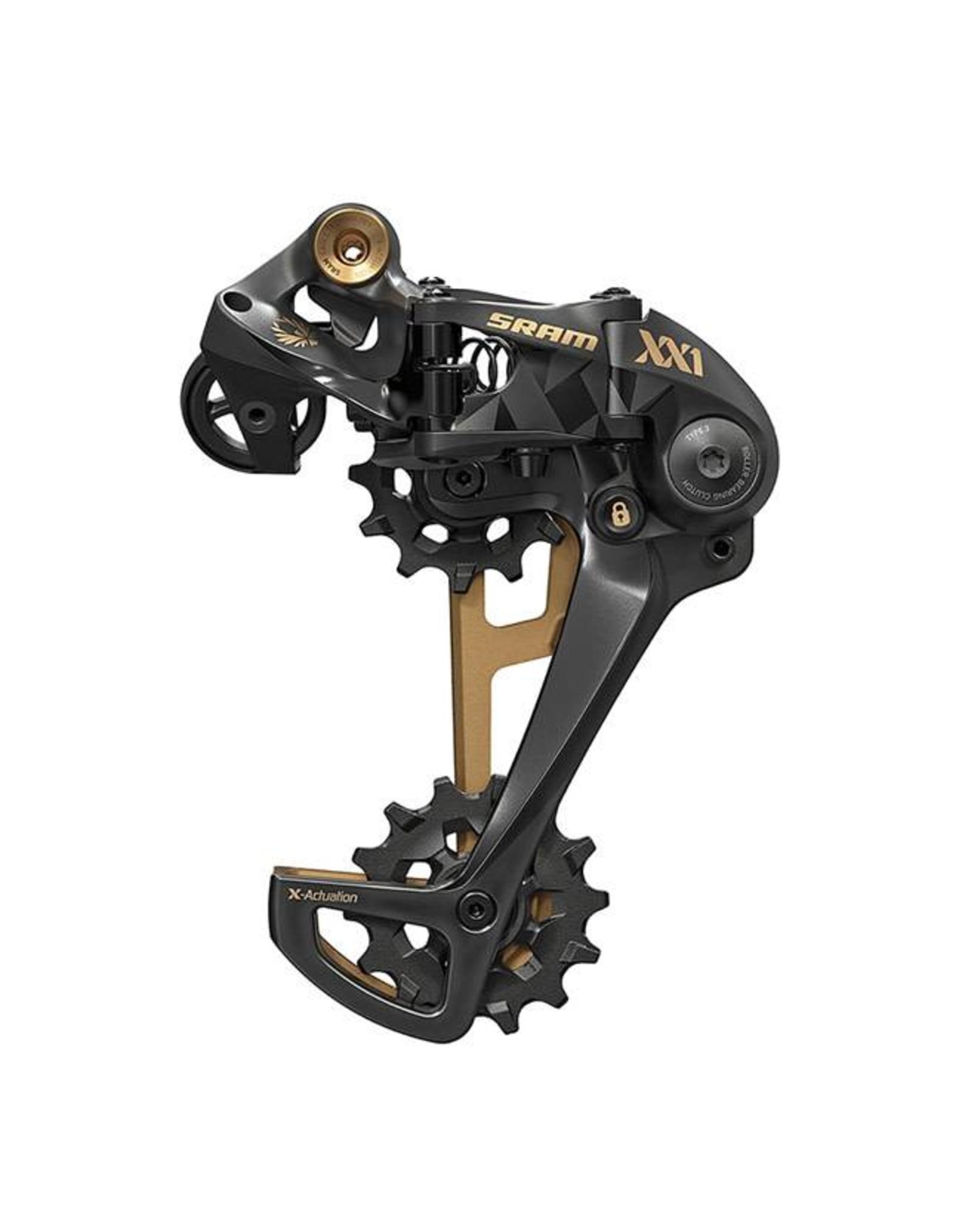 SRAM SRAM XX1 Eagle 12-Speed Type 3 Rear Derailleur, Black with Gold Trim