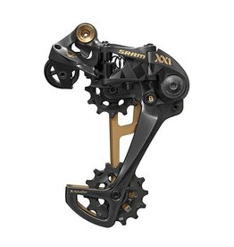 SRAM SRAM XX1 Eagle 12-Speed Type 3 Rear Derailleur, Black with Gold Trim