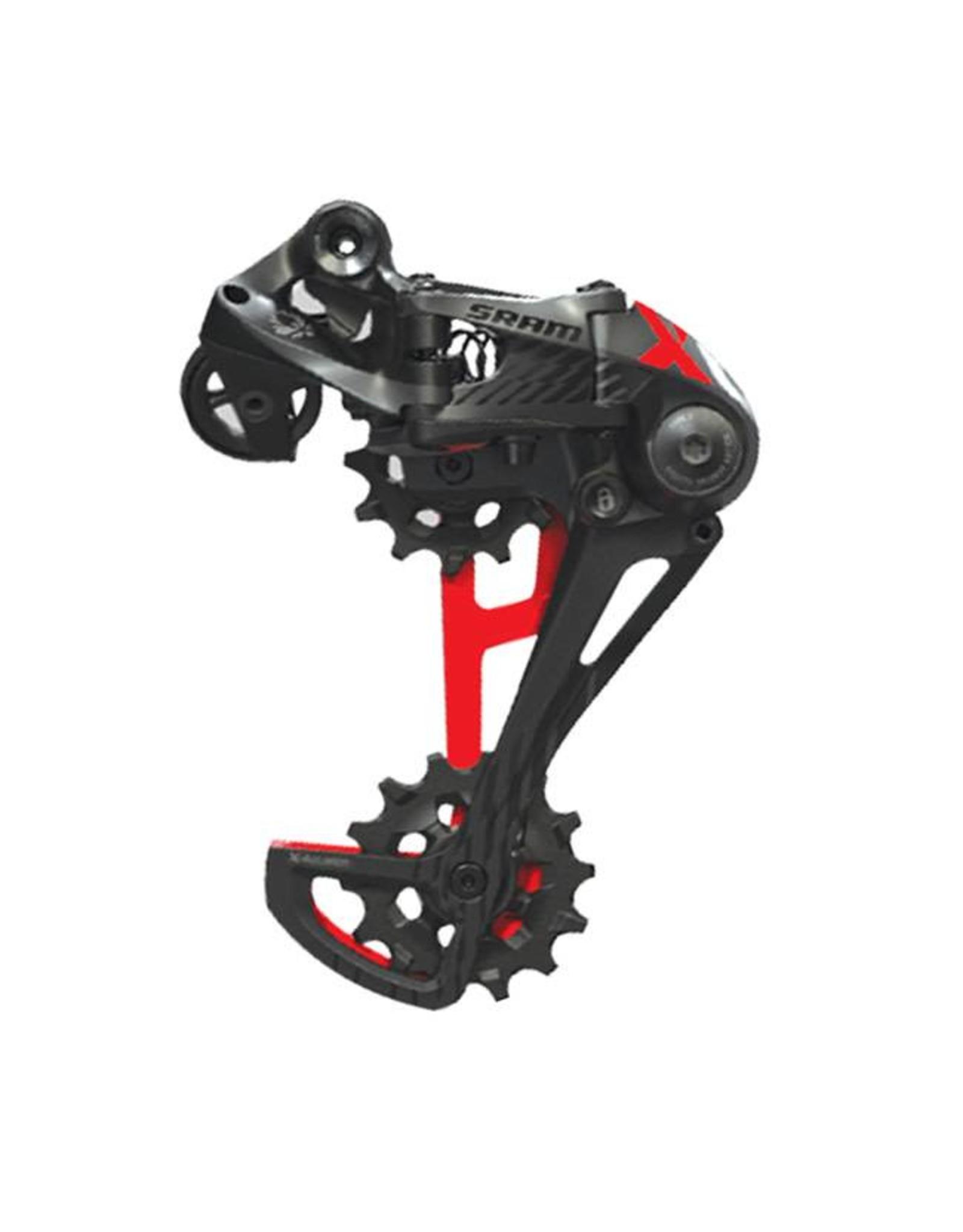 SRAM SRAM X01 Eagle 12-Speed Type 3 Rear Derailleur, Black with Red Trim