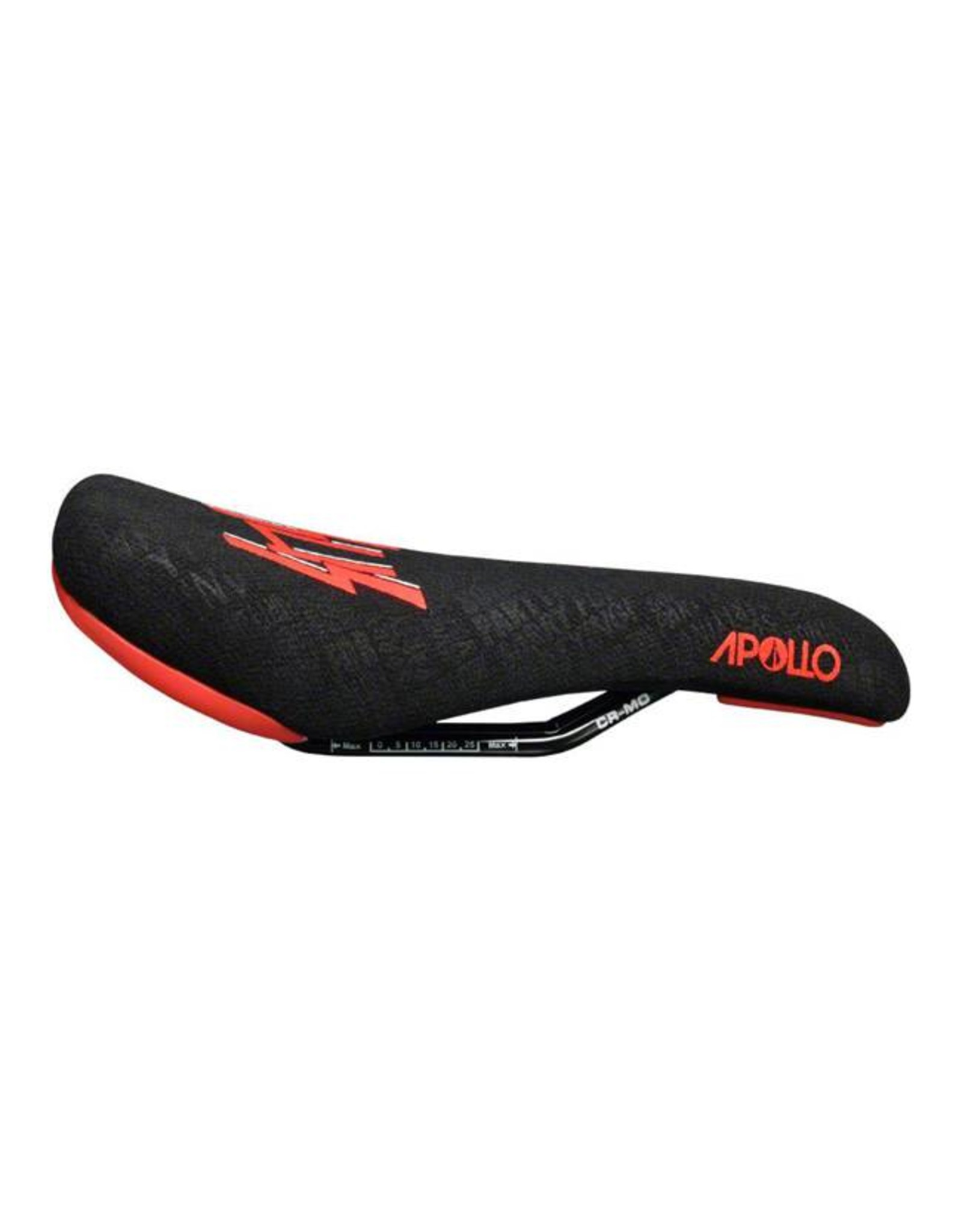 SDG SDG Apollo Sensus Saddle: Chromoly Rails, 1pc Black Aramid Embossed Cover with Red Sensus Logo and Colored Bumpers