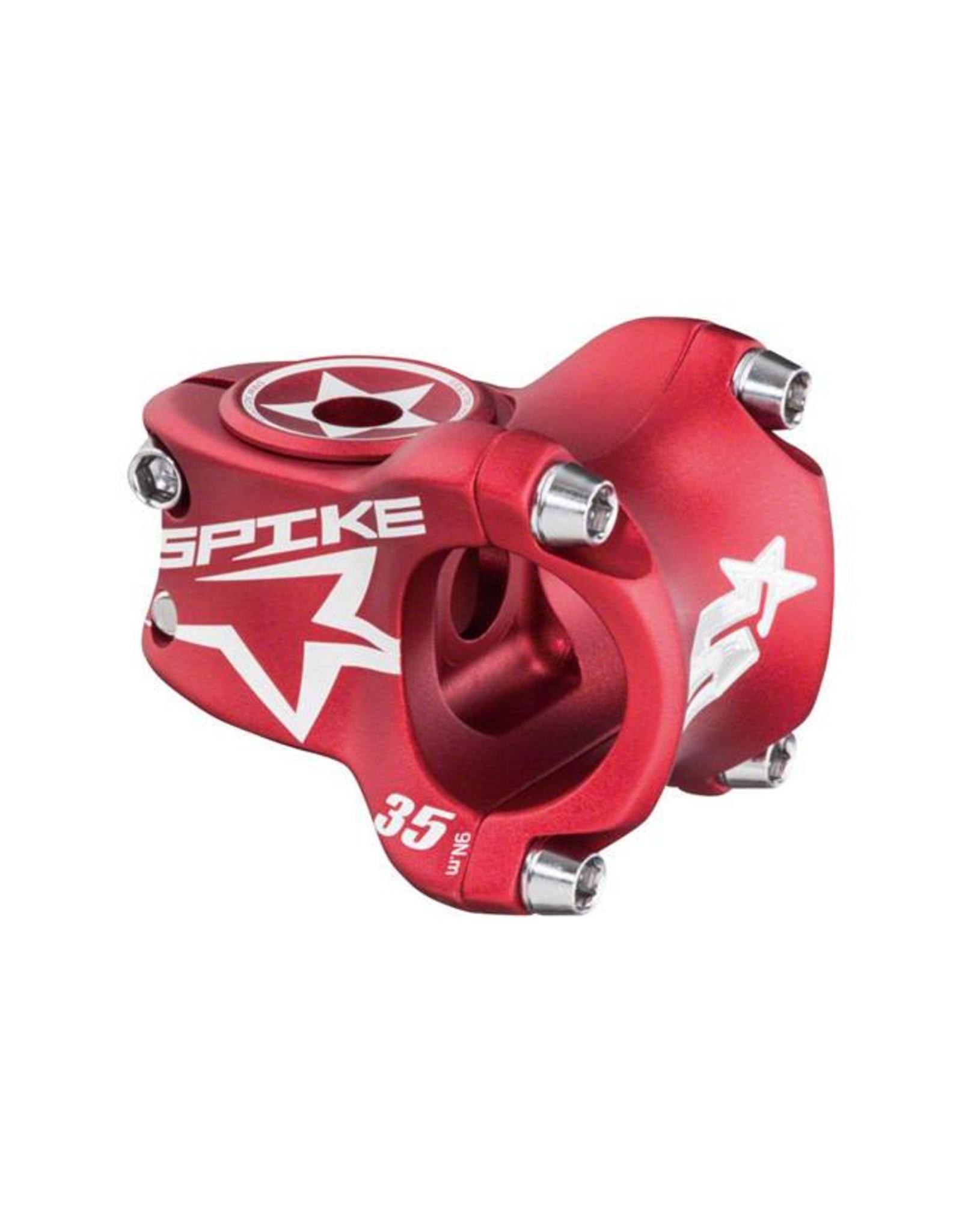 Spank Spank Spike Race Stem 35mm Length, 31.8 Bar Clamp, Matte Red