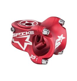 Spank Spank Spike Race Stem 35mm Length, 31.8 Bar Clamp, Matte Red