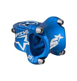Spank Spank Spike Race Stem 35mm Length, 31.8 Bar Clamp, Matte Blue