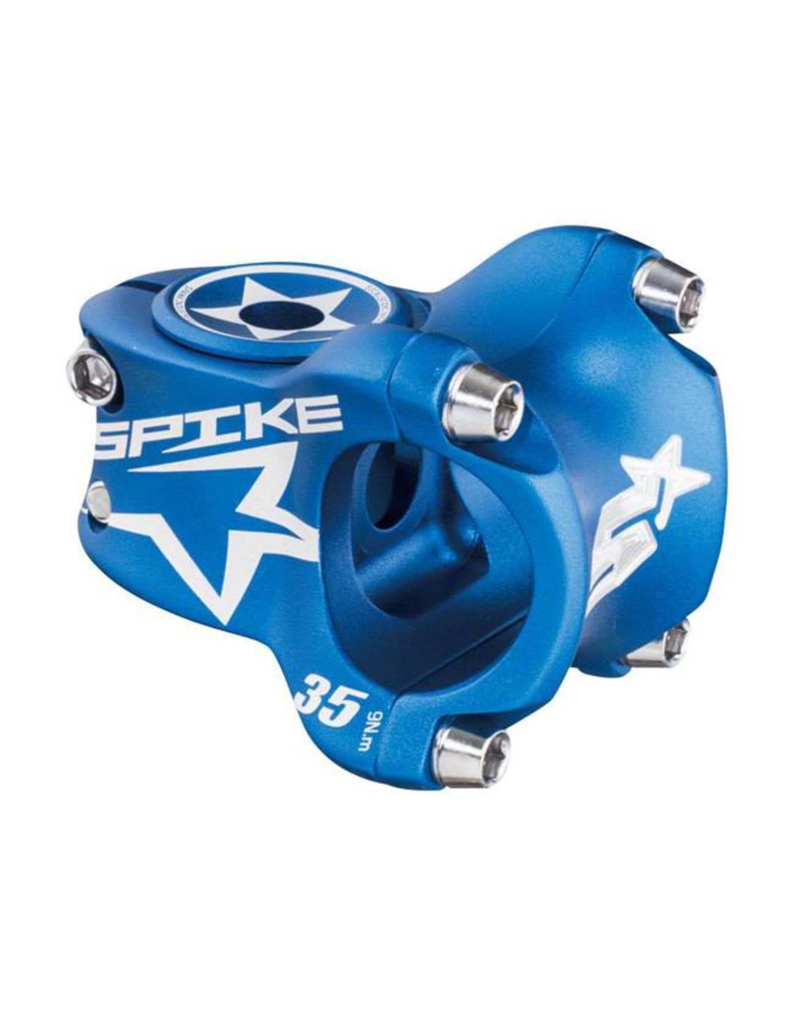 Spank Spank Spike Race Stem 35mm Length, 31.8 Bar Clamp, Matte Blue