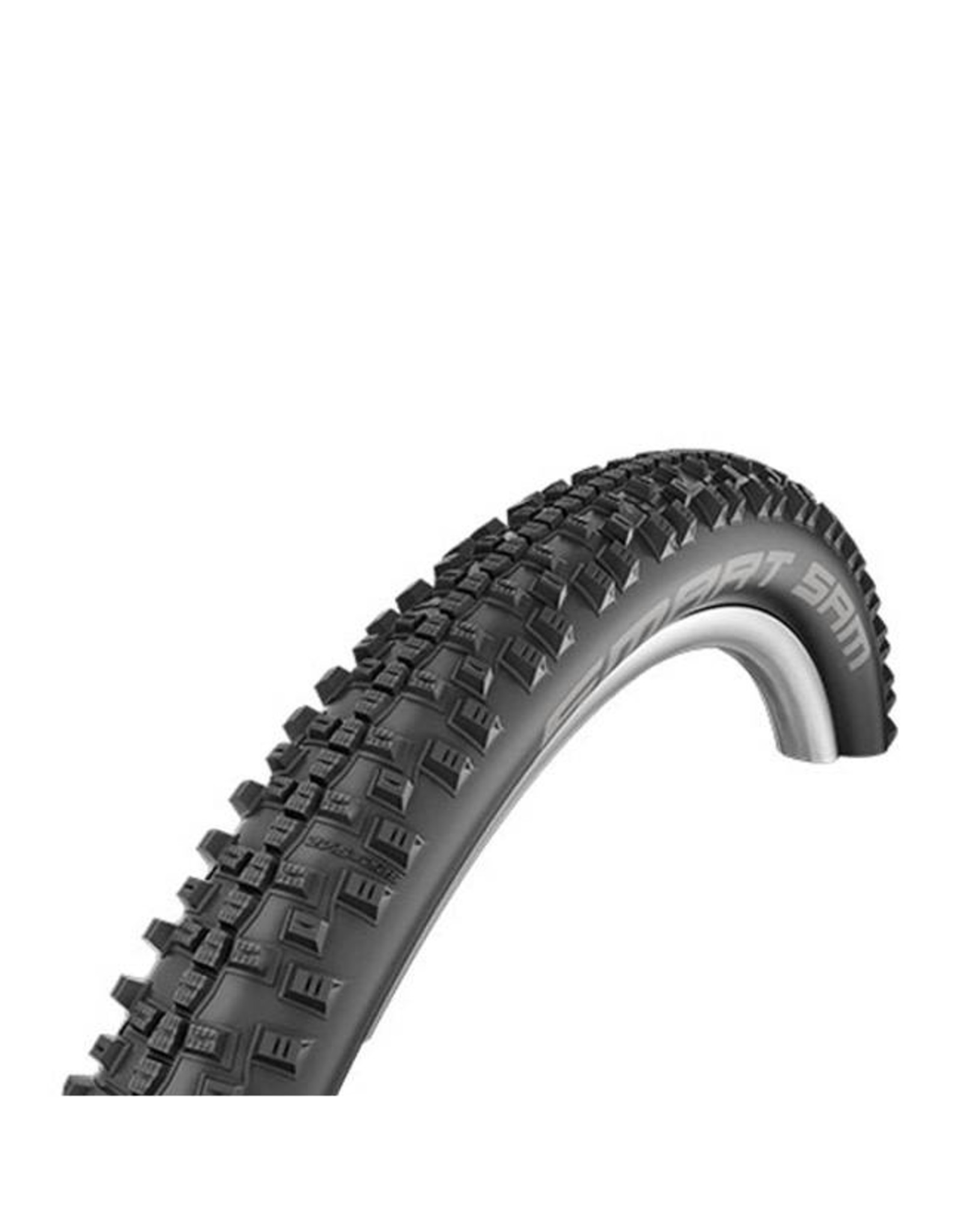 "Schwalbe Schwalbe Smart Sam Tire: 27.5 x 2.60"", Folding Bead, Performance Line, Addix Performance Compound, Double Defense, RaceGuard, Black"