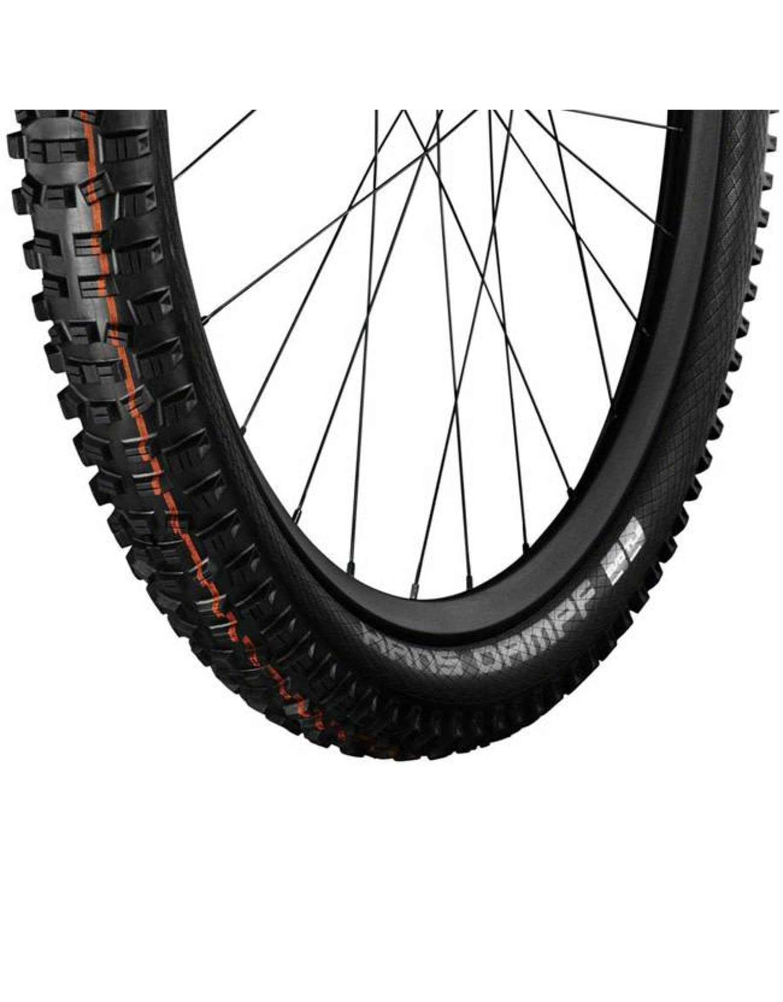 "Schwalbe Schwalbe Hans Dampf Tire: 27.5 x 2.35"", Folding Bead, Evolution Line, Addix Soft Compound, SnakeSkin, Tubeless Easy, Black"