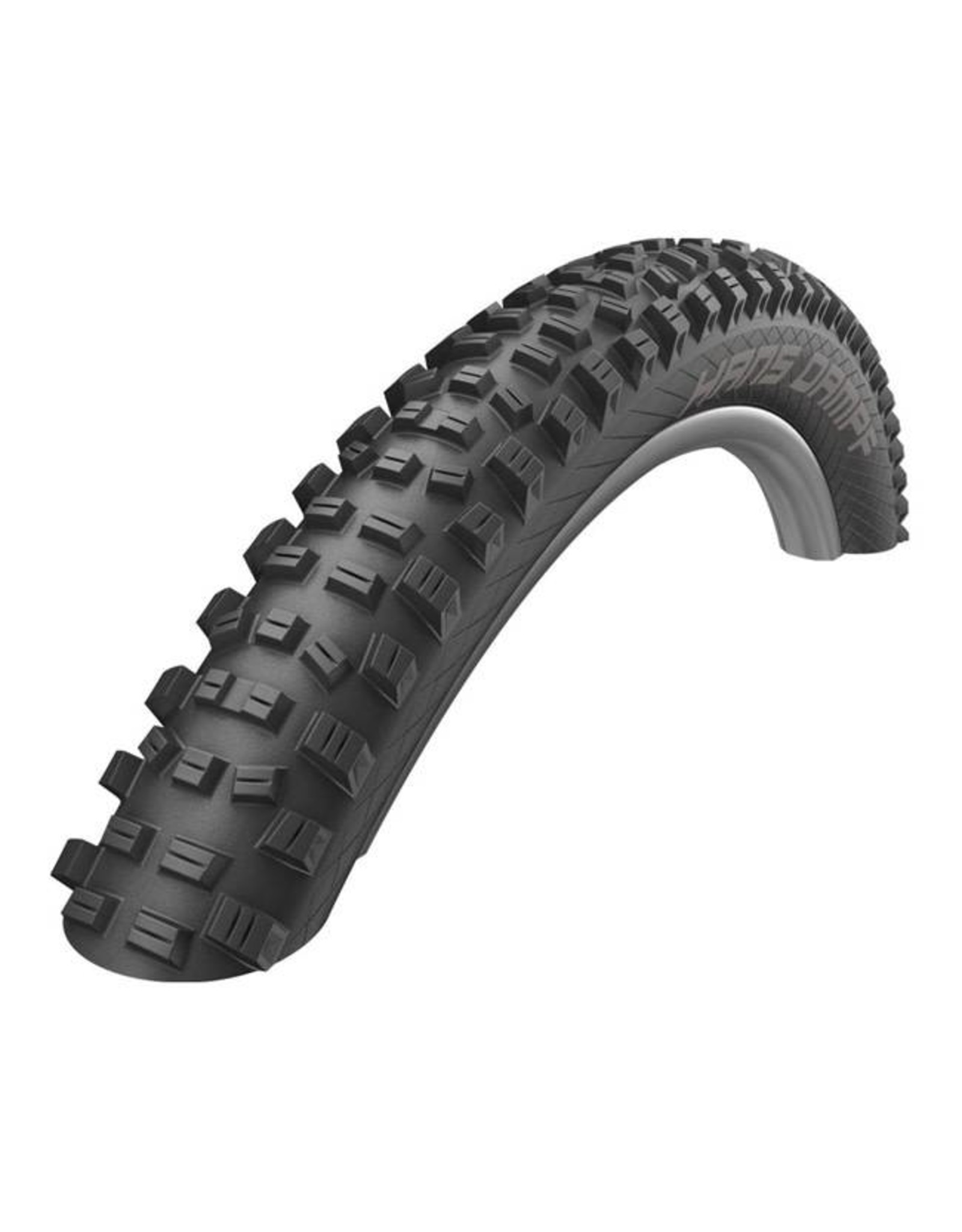 "Schwalbe Schwalbe Hans Dampf Tire: 27.5 x 2.35"", Folding Bead, Performance Line, Addix Performance Compound, Tubeless Easy, Black"
