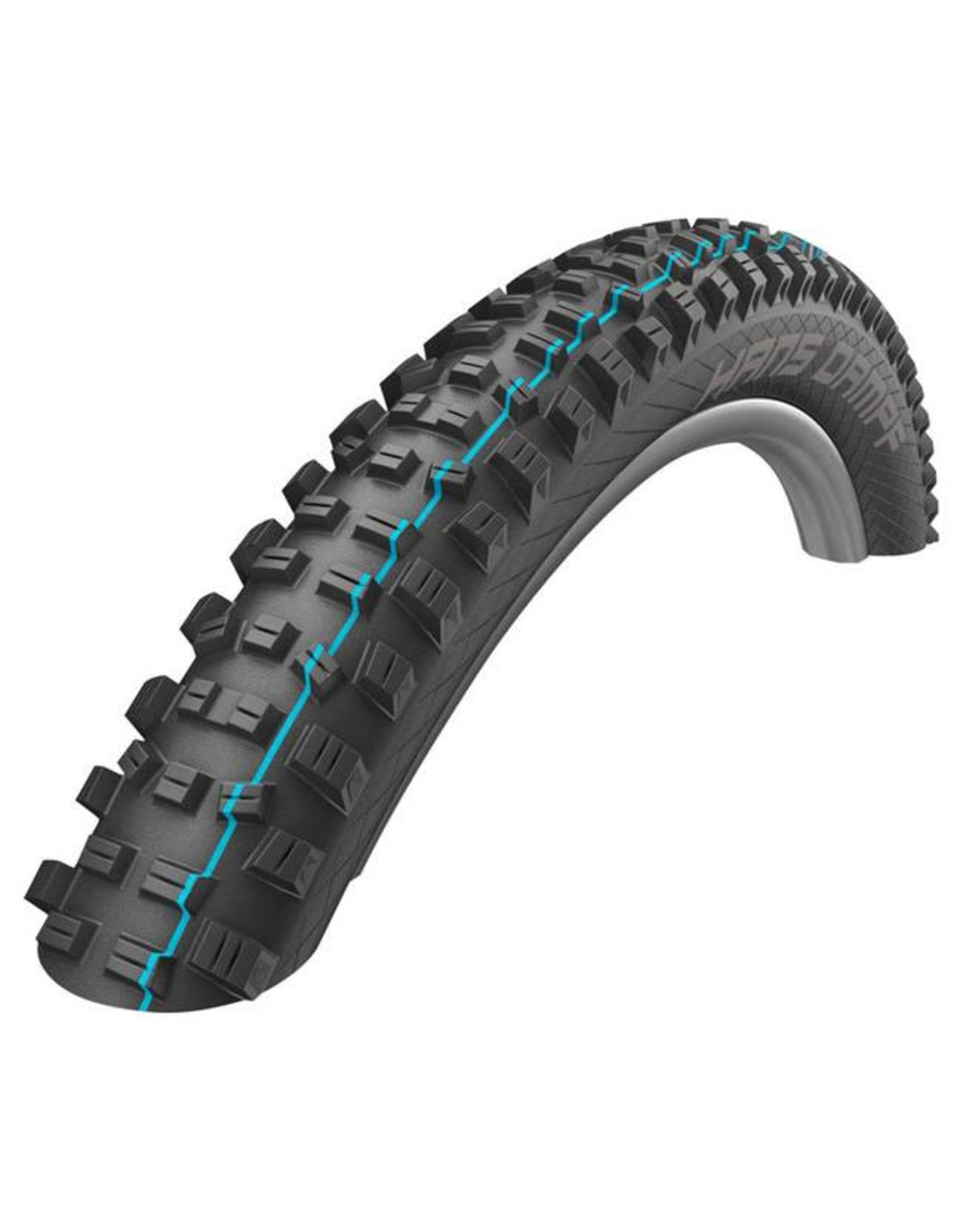 "Schwalbe Schwalbe Hans Dampf Tire: 27.5+ 2.60"", Folding Bead, Evolution Line, Addix Speed Compound, SnakeSkin, Tubeless Easy, Apex, Black"