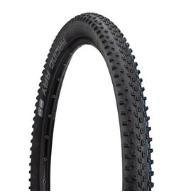 "Schwalbe Schwalbe Racing Ray Tire: 29 x 2.25"", Folding Bead, Evolution Line, Addix SpeedGrip Compound, SnakeSkin, Tubeless Easy, Black"