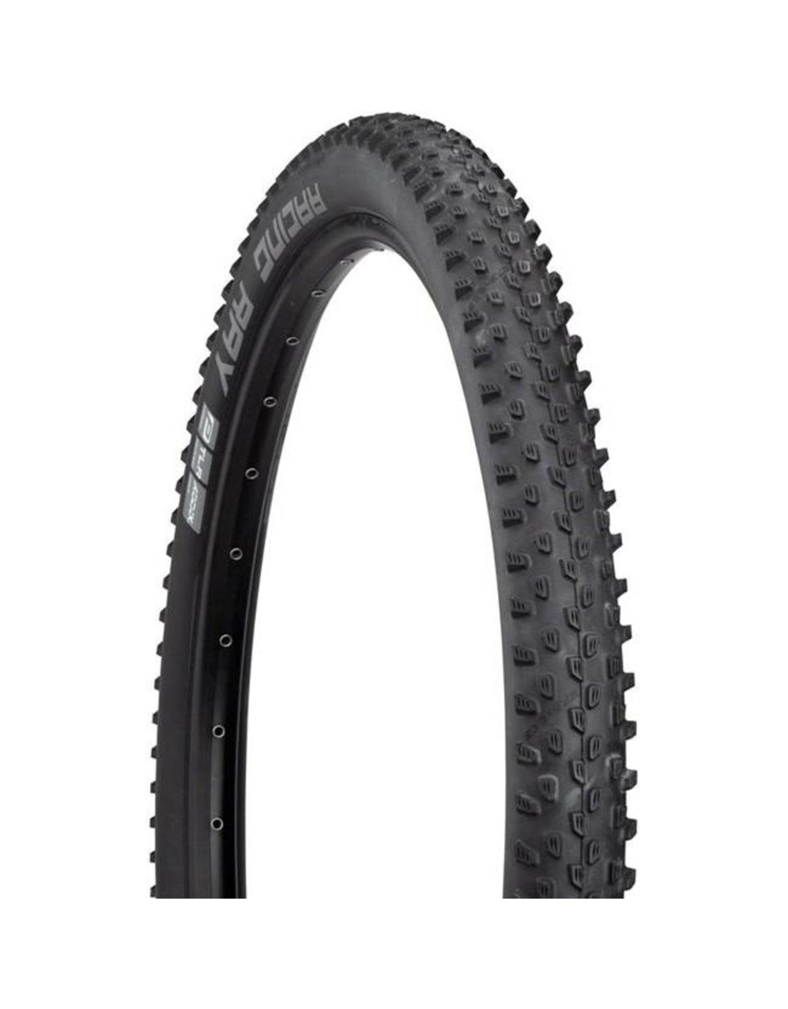 "Schwalbe Schwalbe Racing Ray Tire: 27.5 x 2.25"", Folding Bead, Performance Line, Addix Performance Compound, TwinSkin, Tubeless Ready, Black"