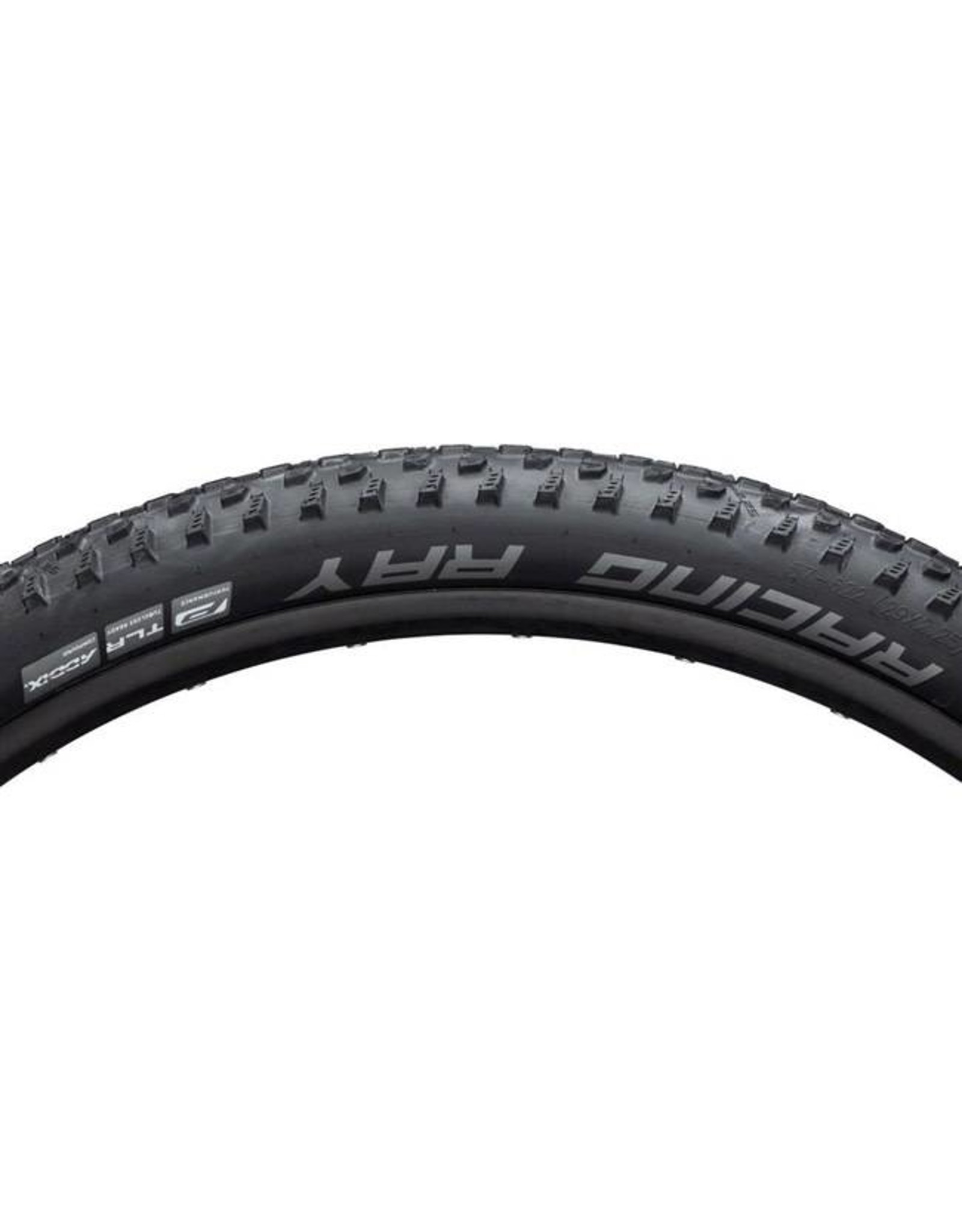 "Schwalbe Schwalbe Racing Ray Tire: 29 x 2.25"", Folding Bead, Performance Line, Addix Performance Compound, TwinSkin, Tubeless Ready, Black"