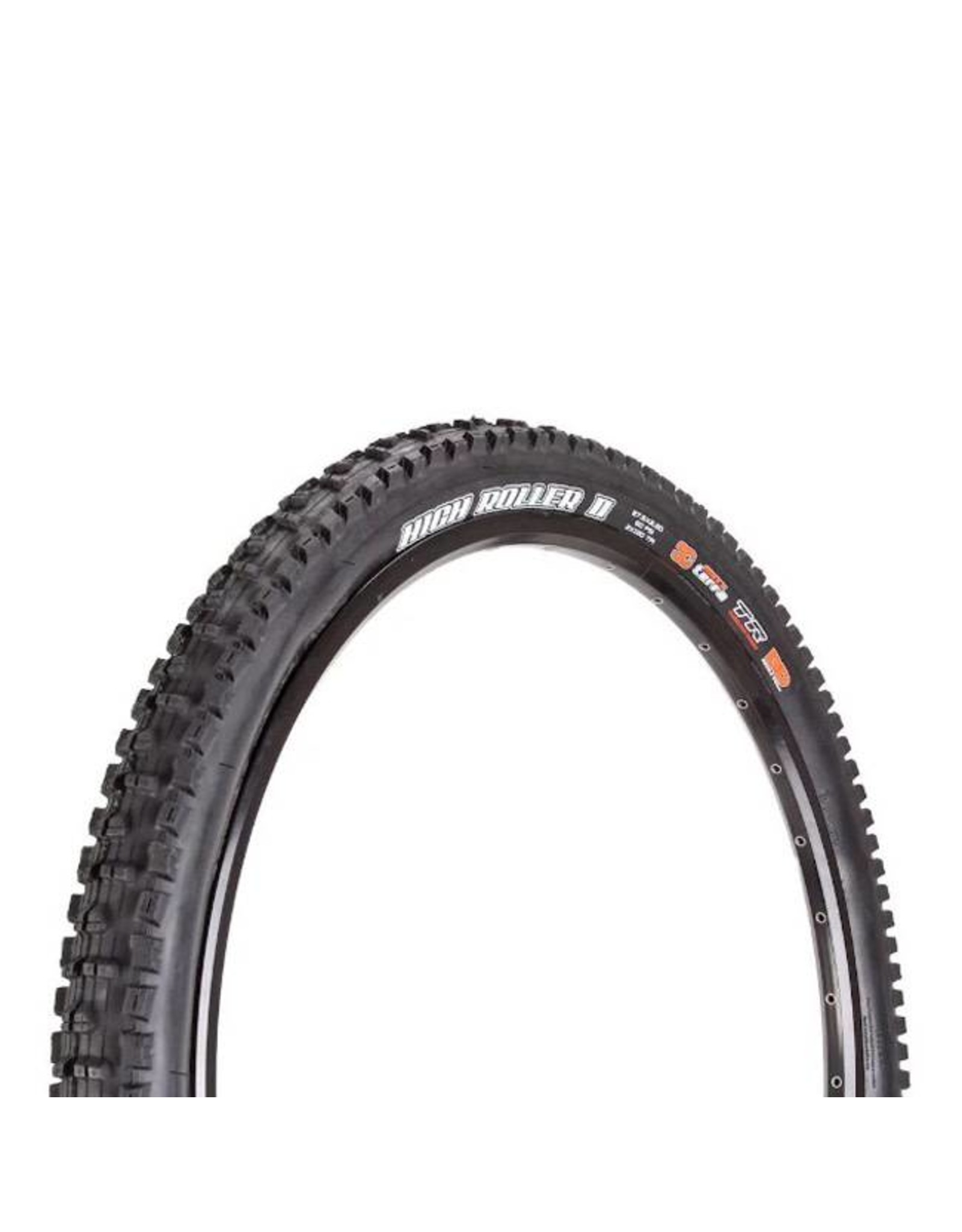 "Maxxis Maxxis High Roller II Tire: 27.5 x 2.30"", Folding, 120tpi, 3C MaxxTerra, Double Down, Tubeless Ready, Black"