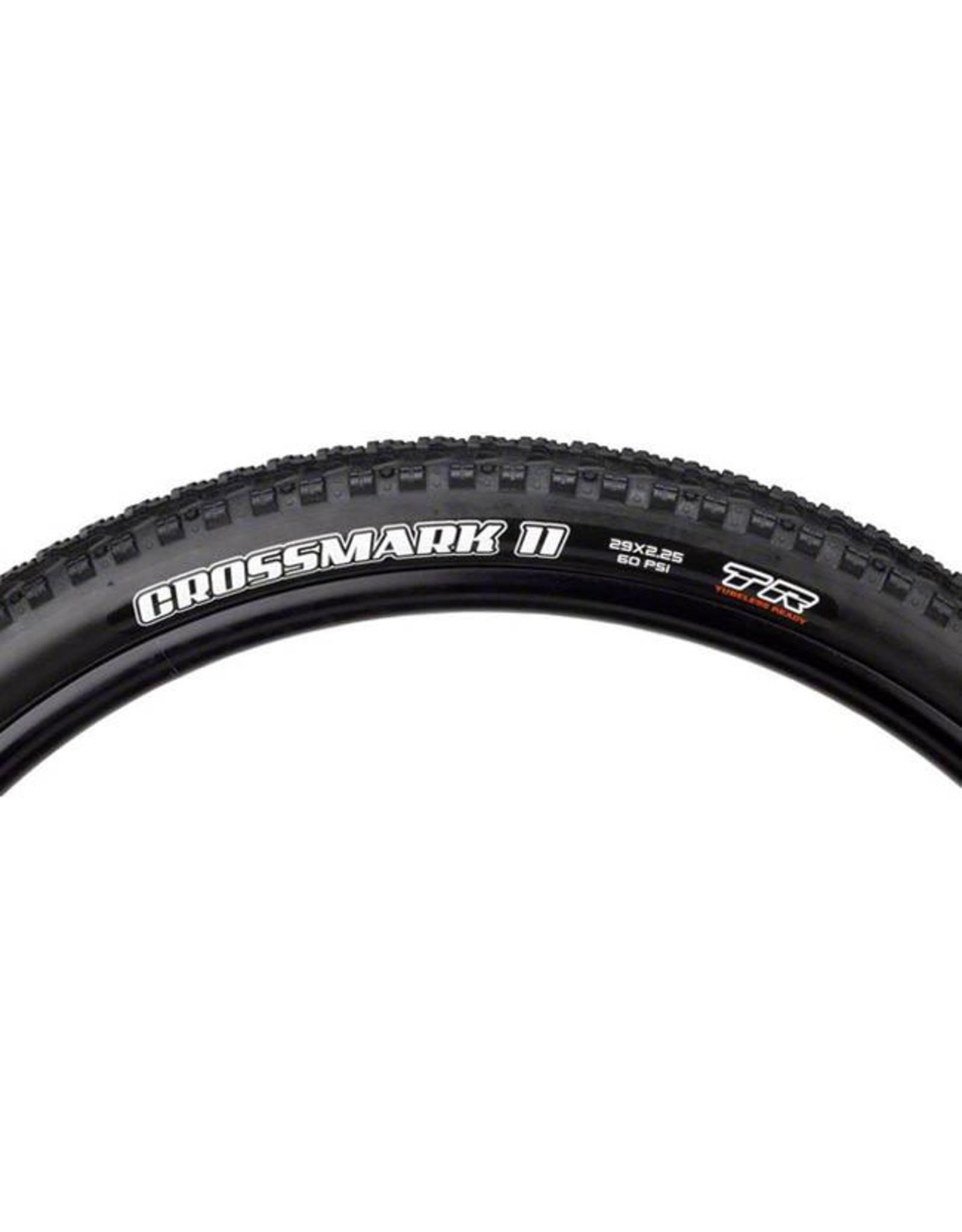 "Maxxis Maxxis Crossmark II Tire: 29 x 2.25"", Folding, 60tpi, Dual Compound, Tubeless Ready, Black"