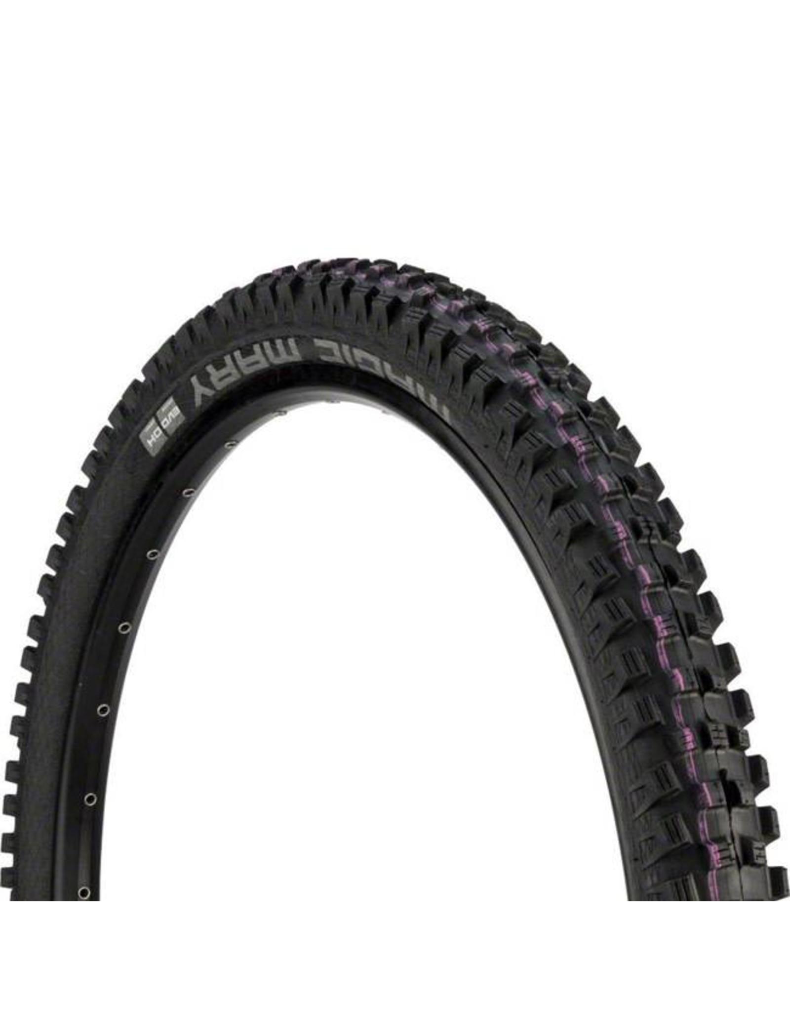 "Schwalbe Schwalbe Magic Mary Tire: 27.5 x 2.35"", Wire Bead, Evolution Line, Addix Ultra Soft Compound, Downhill, Black"