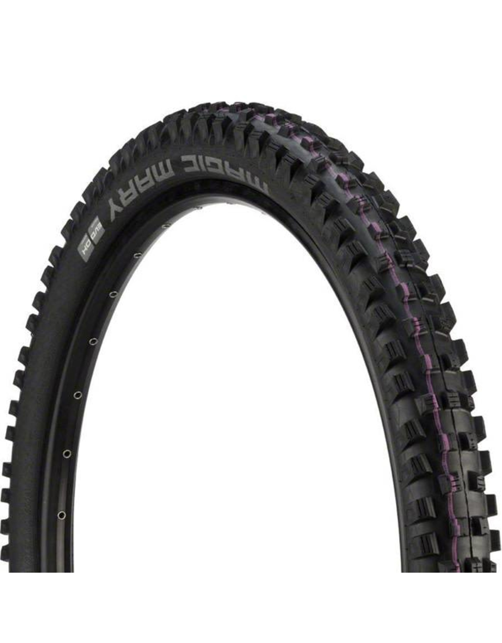 "Schwalbe Schwalbe Magic Mary Tire: 27.5 x 2.60"", Wire Bead, Evolution Line, Addix Ultra Soft Compound, Downhill, Black"