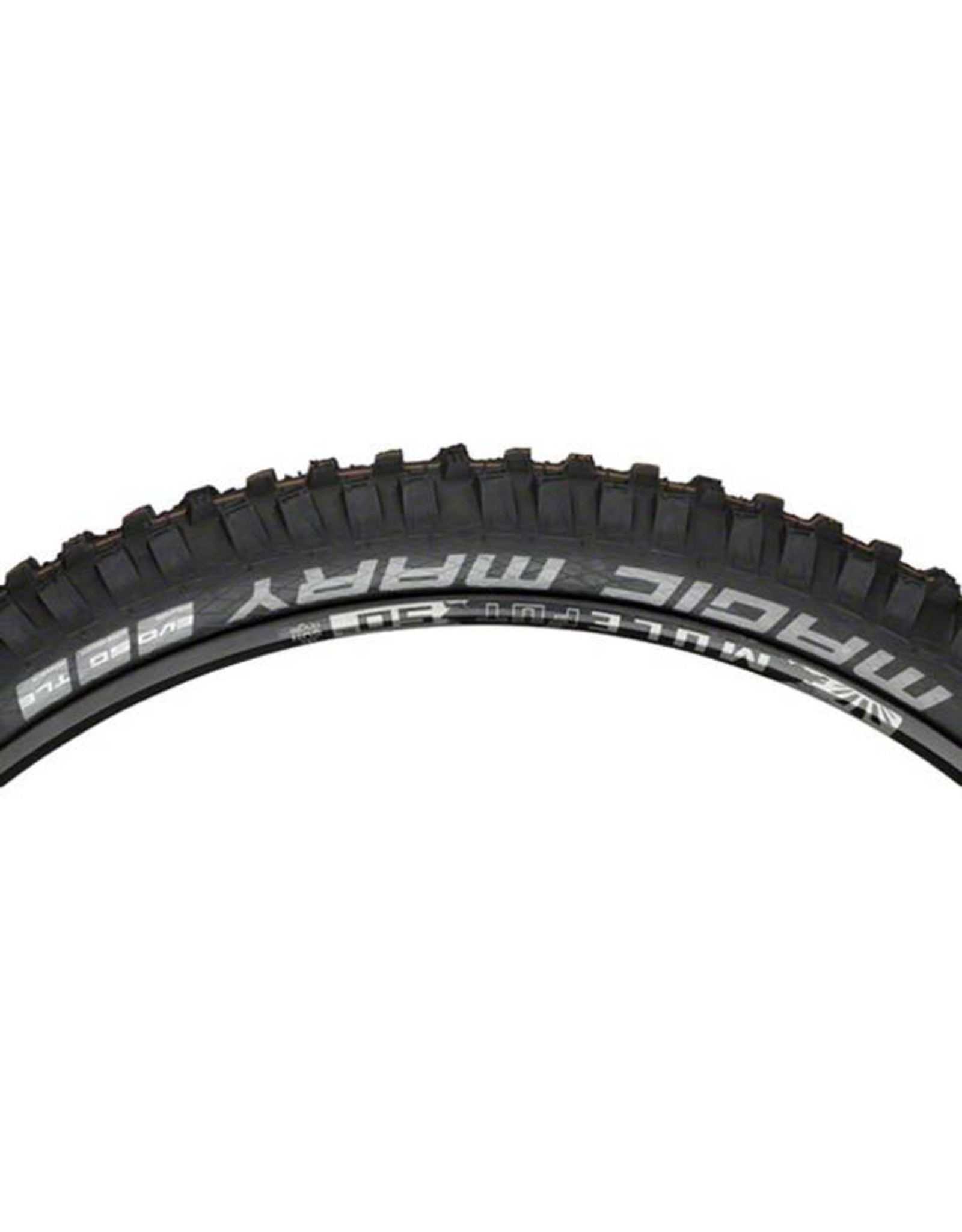 "Schwalbe Schwalbe Magic Mary Tire: 27.5 x 2.35"", Folding Bead, Evolution Line, Addix Soft Compound, Super Gravity, Tubeless Easy, Black"