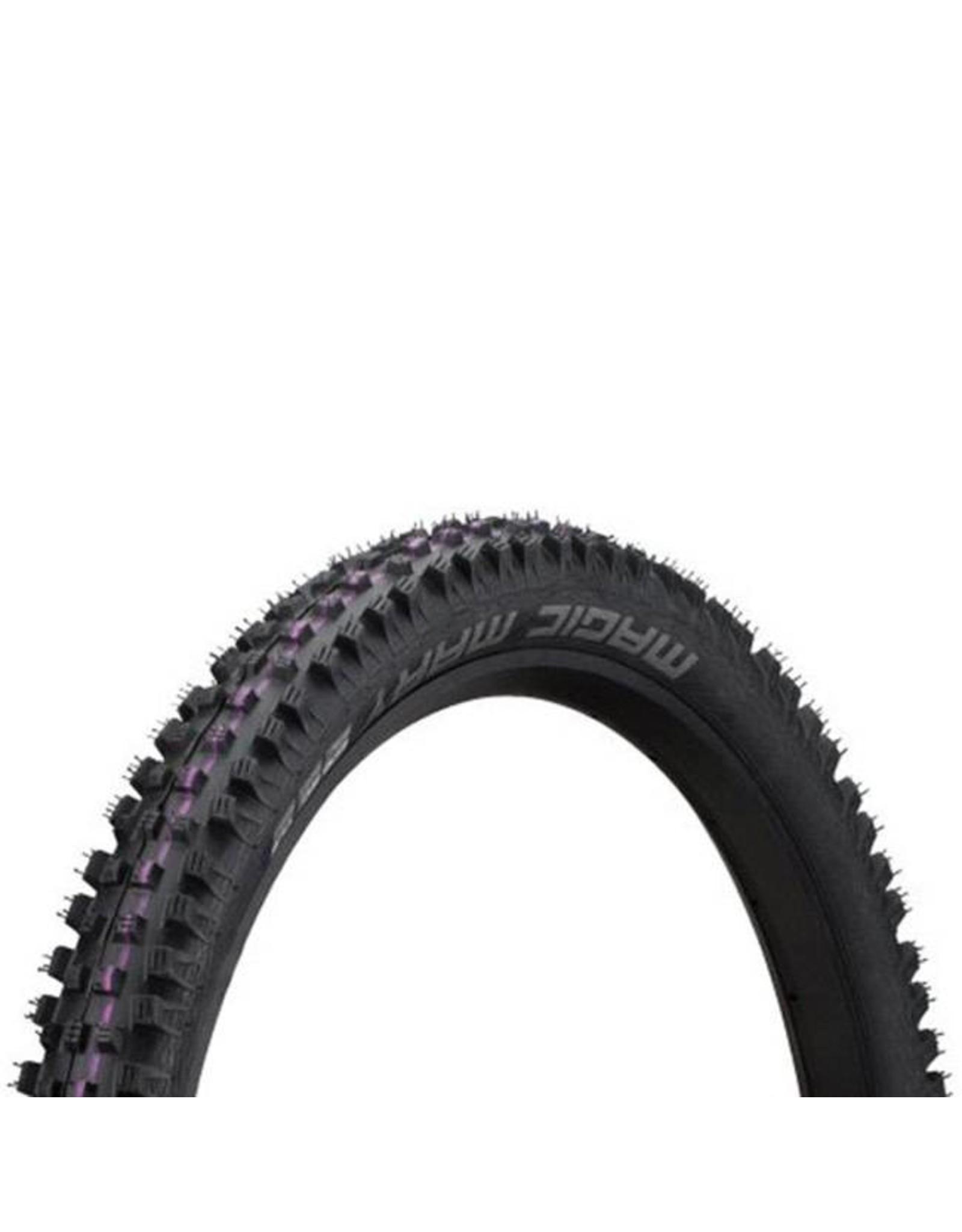 "Schwalbe Schwalbe Magic Mary Tire: 27.5 x 2.35"", Folding Bead, Evolution Line, Addix Ultra Soft Compound, Super Gravity, Tubeless Easy, Black"
