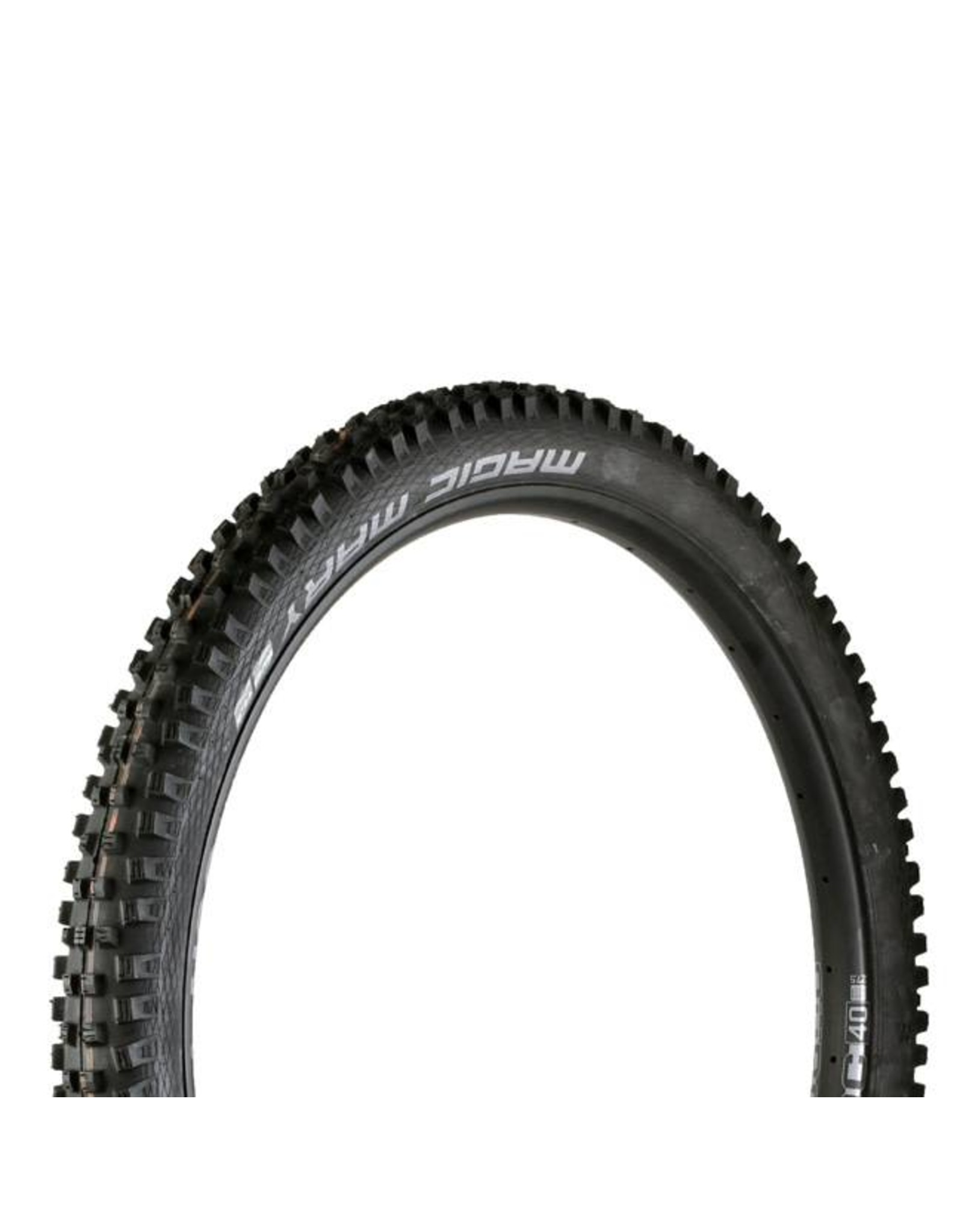 "Schwalbe Schwalbe Magic Mary Tire: 27.5 x 2.35"", Folding Bead, Evolution Line, Addix Soft Compound, SnakeSkin, Tubeless Easy, Black"