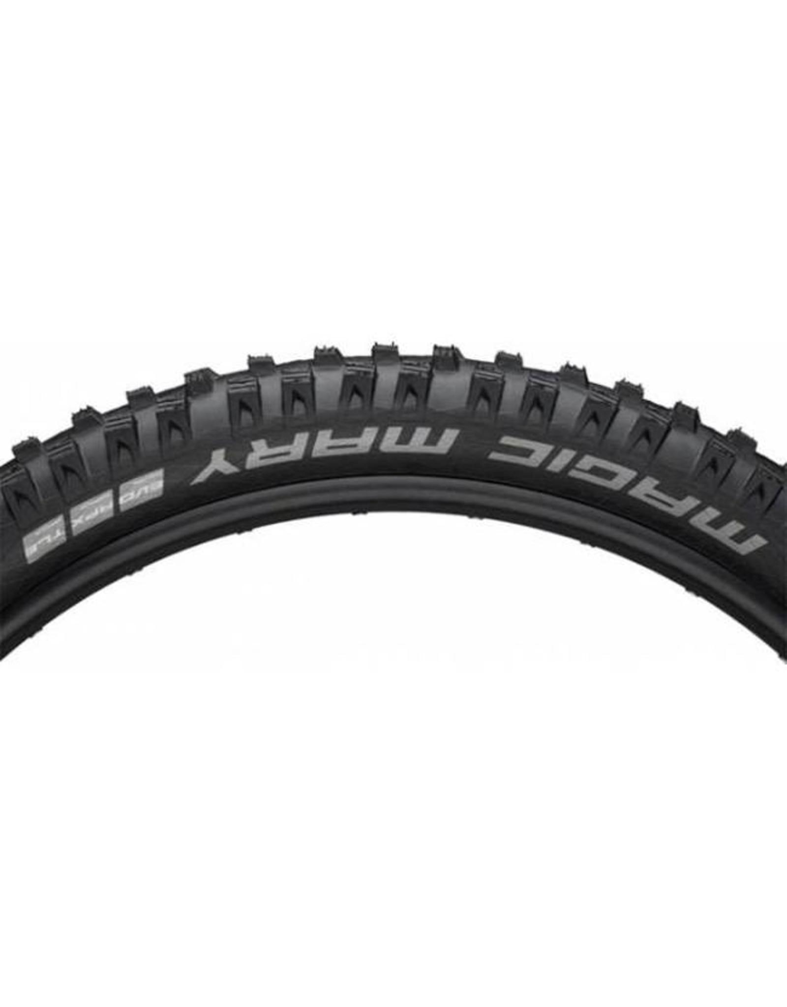 "Schwalbe Schwalbe Magic Mary Tire: 27.5 x 2.60"", Folding Bead, Evolution Line, Addix Soft Compound, SnakeSkin, Tubeless Easy, Apex, Black"