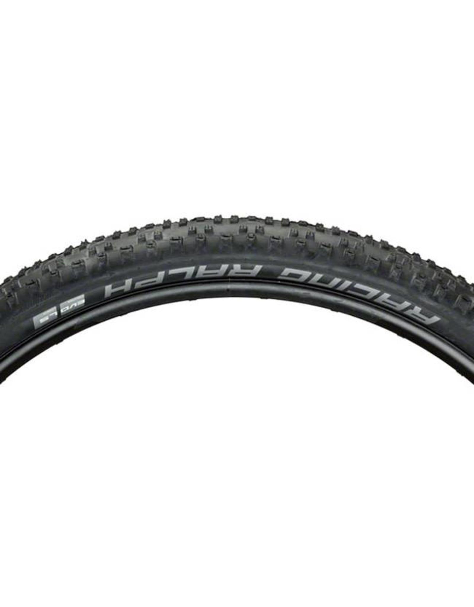 "Schwalbe Schwalbe Racing Ralph Tire: 29 x 2.25"", Folding Bead, Evolution Line, Addix Speed Compound, LiteSkin, Black"