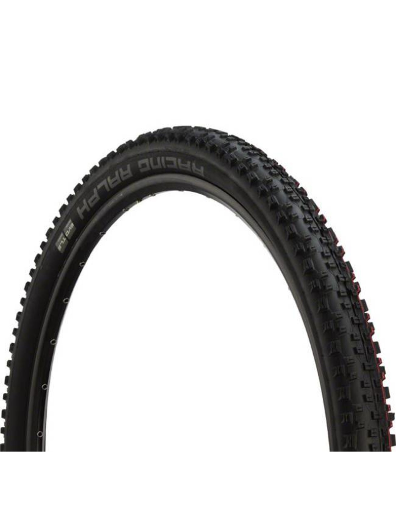 "Schwalbe Schwalbe Racing Ralph Tire: 27.5 x 2.25"", Folding Bead, Evolution Line, Addix Speed Compound, SnakeSkin, Tubeless Easy, Black"