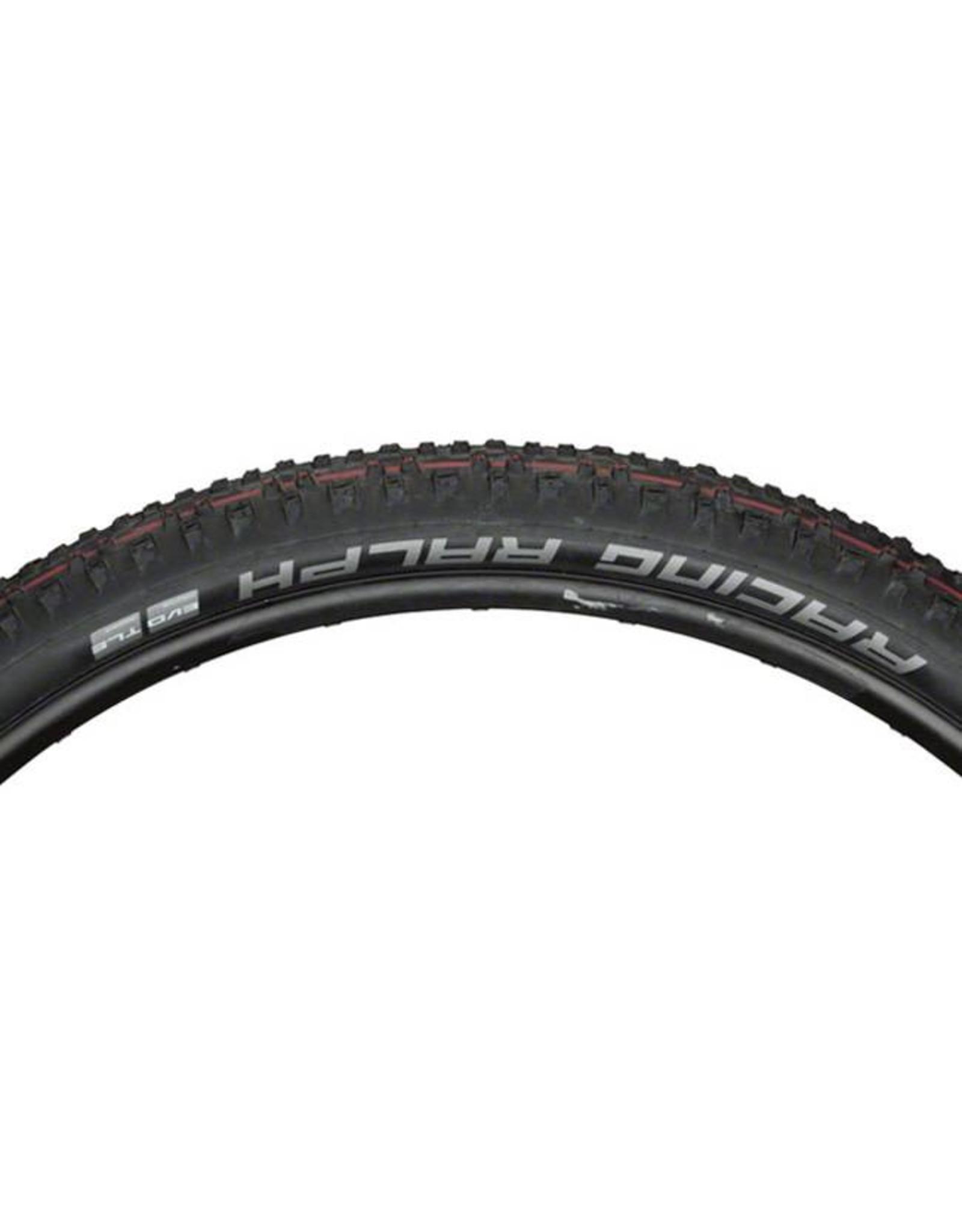 "Schwalbe Schwalbe Racing Ralph Tire: 29 x 2.10"", Folding Bead, Evolution Line, Addix Speed Compound, SnakeSkin, Tubeless Easy, Black"