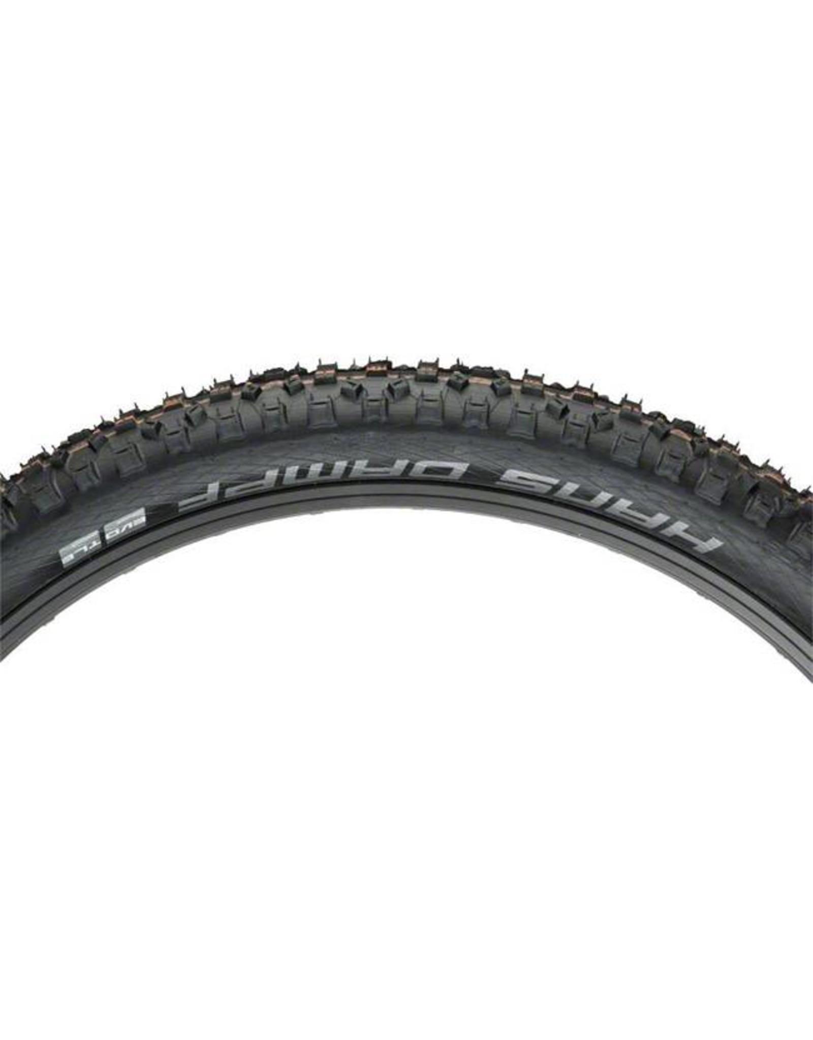 "Schwalbe Schwalbe Hans Dampf Tire: 27.5 x 2.35"", Folding Bead, Evolution Line, Addix Soft Compound, SnakeSkin, Tubeless Easy, Black"
