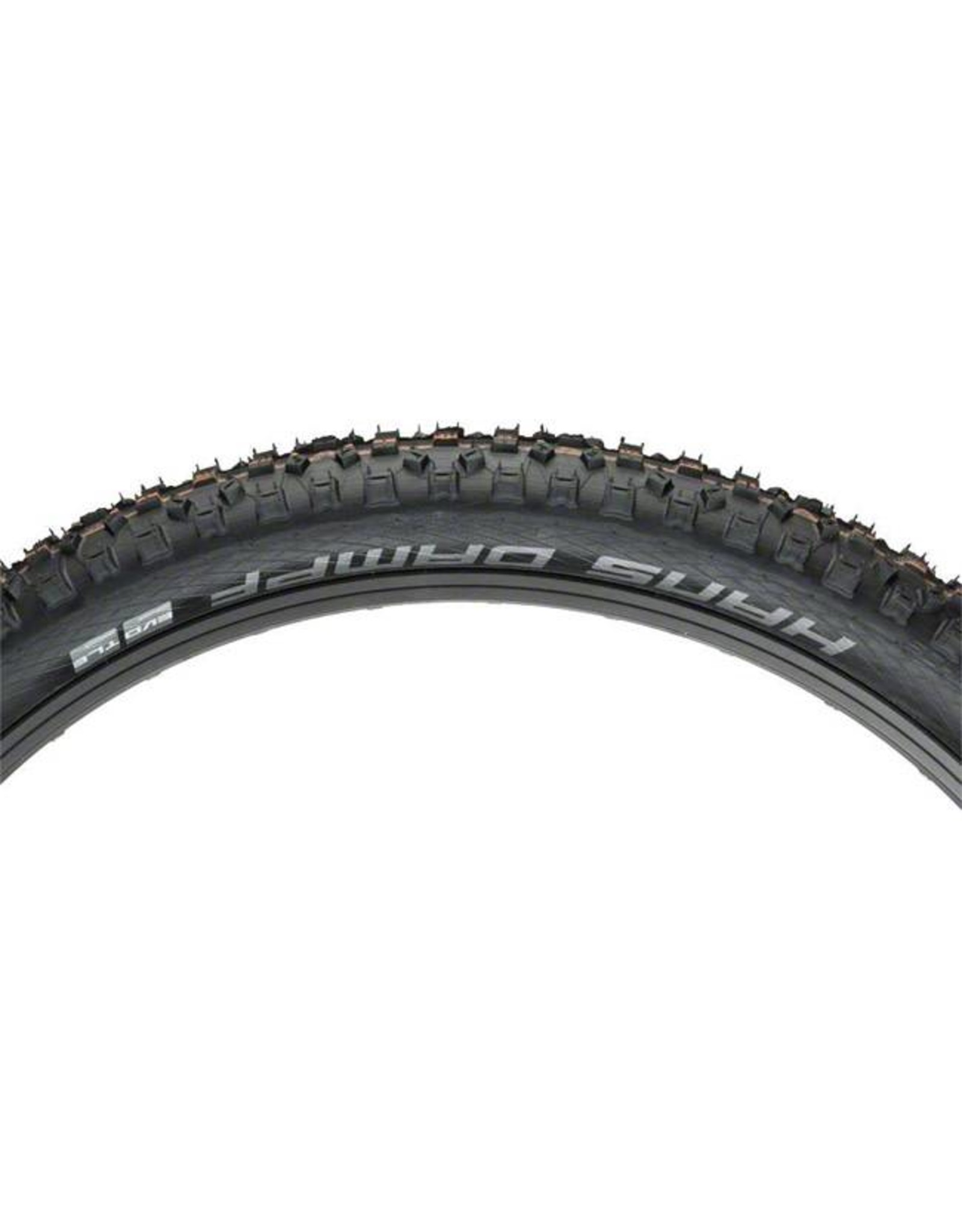 "Schwalbe Schwalbe Hans Dampf Tire: 27.5 x 2.35"", Folding Bead, Evolution Line, Addix Soft Compound, Super Gravity, Tubeless Easy, Black"