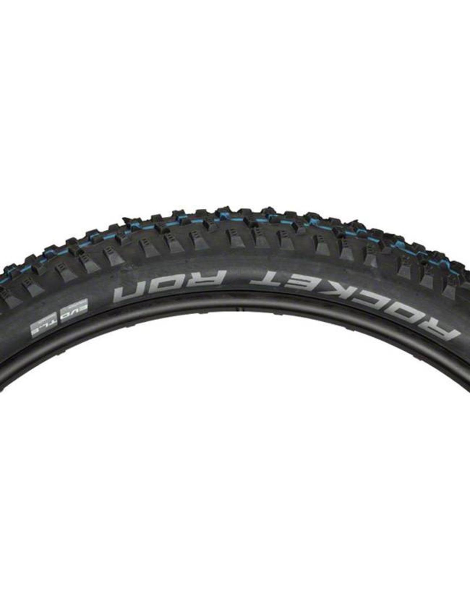"Schwalbe Schwalbe Rocket Ron Tire: 27.5 x 2.80"", Folding Bead, Evolution Line, Addix Speed Compound, SnakeSkin, Tubeless Easy, Black"