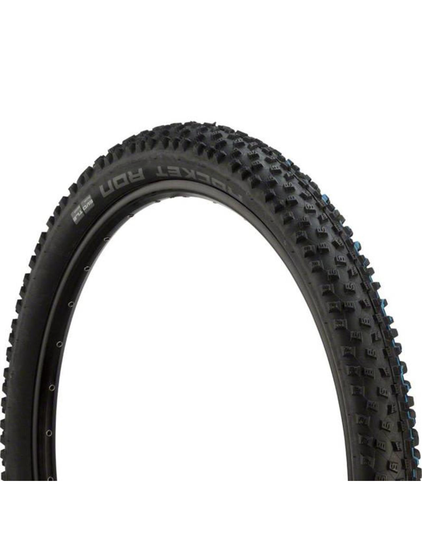 "Schwalbe Schwalbe Rocket Ron Tire: 27.5 x 2.60"", Folding Bead, Evolution Line, Addix Speed Compound, SnakeSkin, Tubeless Easy, Black"