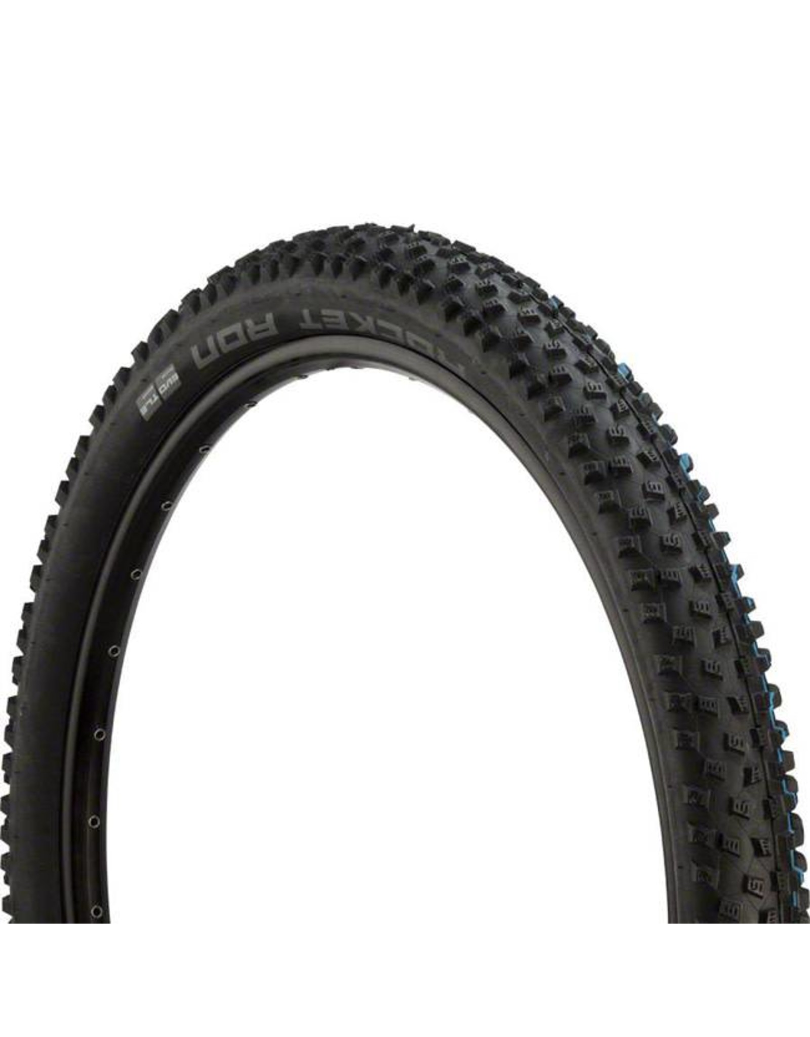 "Schwalbe Schwalbe Rocket Ron Tire: 29 x 2.25"", Folding Bead, Evolution Line, Addix SpeedGrip Compound, SnakeSkin, Tubeless Easy, Black"