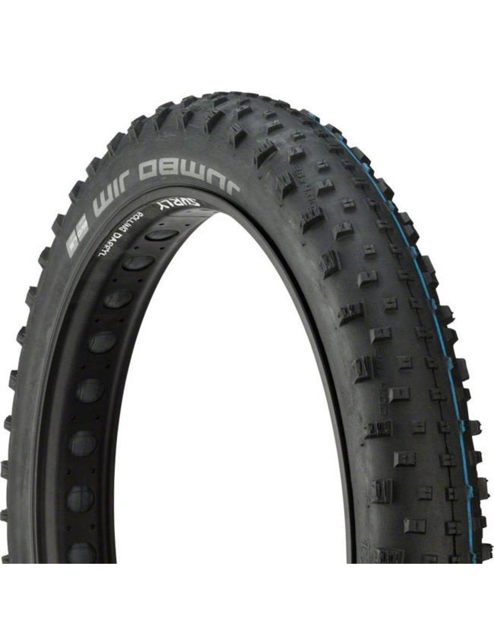 "Schwalbe Schwalbe Jumbo Jim Tire: 26 x 4.00"", Folding Bead, Evolution Line, Addix Speed Compound, LiteSkin, Black"