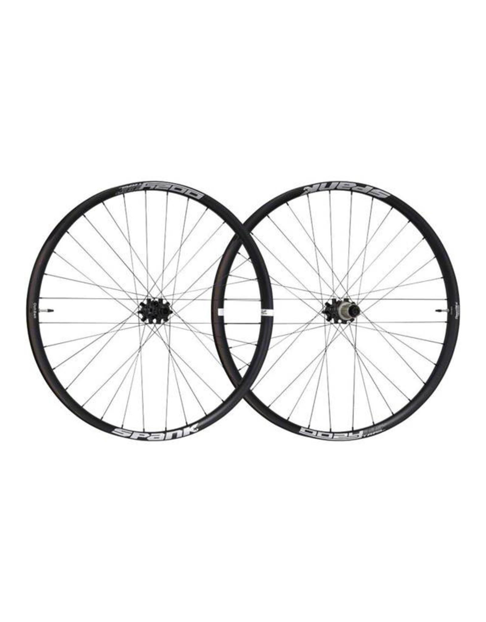 Spank Spank Oozy Trail 395+ Wheelset: 27.5+ 15 x 110mm Front 12 x 148mm Rear Shimano 10/11 MTB Freehub Black