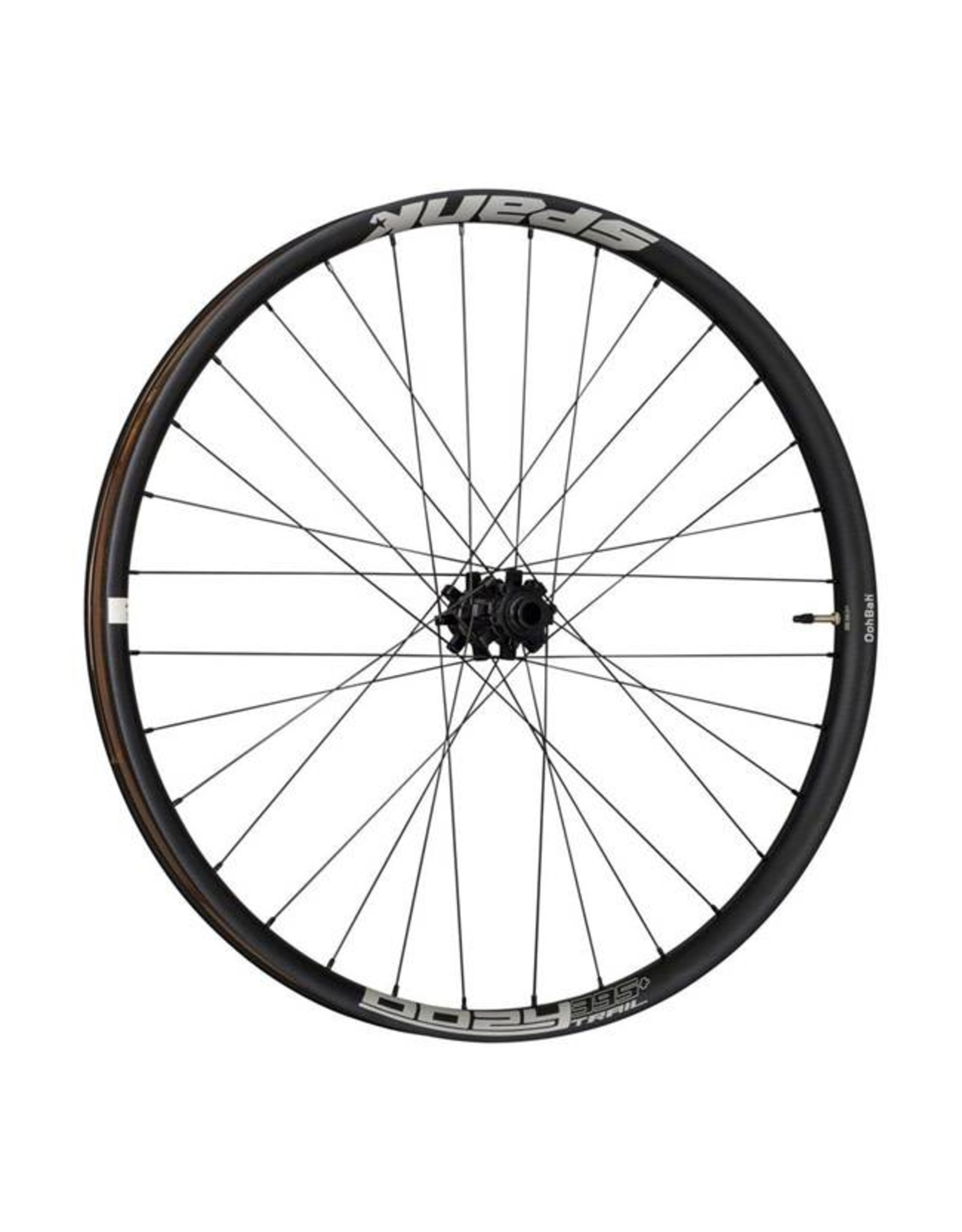 Spank Spank Oozy Trail 345 Wheelset: 27.5+ 15 x 110mm Front 12 x 148mm Rear Shimano 10/11 MTB Freehub Black